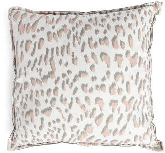 Made In Usa 24x24 Oversized Animal Print Pillow