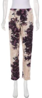 Enza Costa Abstract Print Straight-Leg Pants