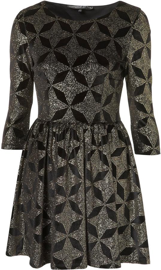 Petite Star Velvet Dress