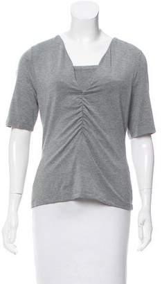 Alexander Wang Shirred-Front Short Sleeve Top w/ Tags