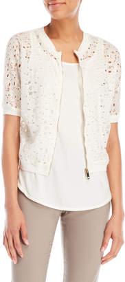 Les Copains Zip Lace Shirt
