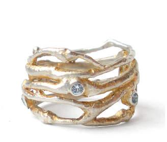 Carrie Bilbo Jewelry Twig Ring Blue