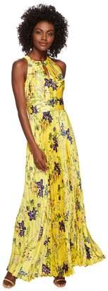 Tahari ASL Floral Pleated Gown Women's Dress