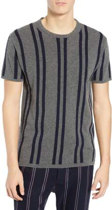 Scotch & Soda Stripe Wool & Cashmere T-Shirt