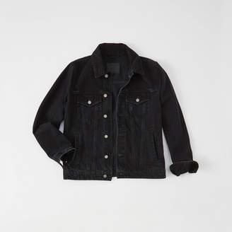 Abercrombie & Fitch A&F Men's Denim Jacket in Black - Size S