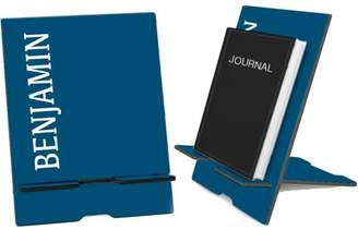Monogram Online Blue Personalized Book and iPad Stand