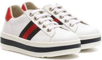 Gucci Kids Ace leather platform sneakers