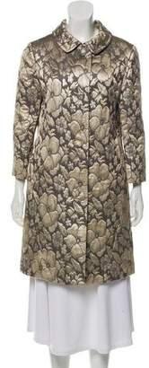 Miu Miu Brocade Floral Coat