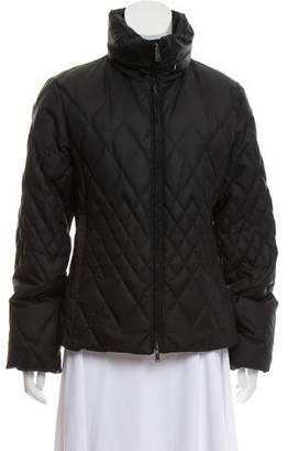 Post Card Quilted Zip-Up Coat