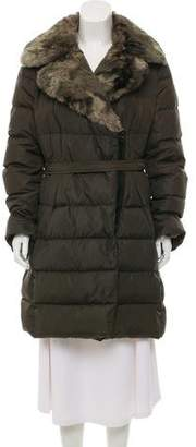 Moncler Fur-Trimmed Chauvet Coat