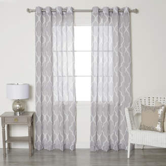 Best Home Fashion Best Home Fashion, Inc. Moroccan Grommet Top Sheer Curtain Panels