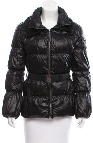 prada Prada Fur-Trimmed Down Coat