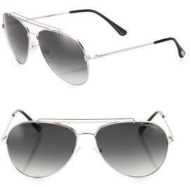 Tom Ford Indiana 58MM Aviator Sunglasses