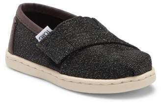 Toms Charcoal Herringbone Alpargata Slip-On Sneaker (Baby, Toddler, & Little Kid)