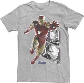 Men's Marvel Avengers Endgame Iron Man Panels Tee