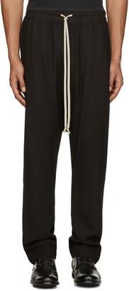 Rick Owens Black Wool Mesh Lounge Pants $735 thestylecure.com