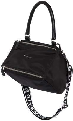 Givenchy Small Pandora Nylon Bag W/ Logo Strap