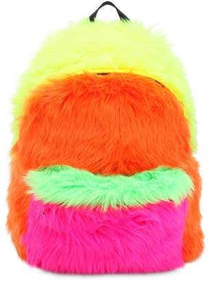 Jeremy Scott Faux Fur Backpack