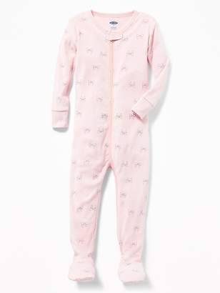 Old Navy Bow-Tie Footed Sleeper for Toddler Girls & Baby