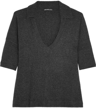 James Perse - Cashmere Top - Charcoal $350 thestylecure.com