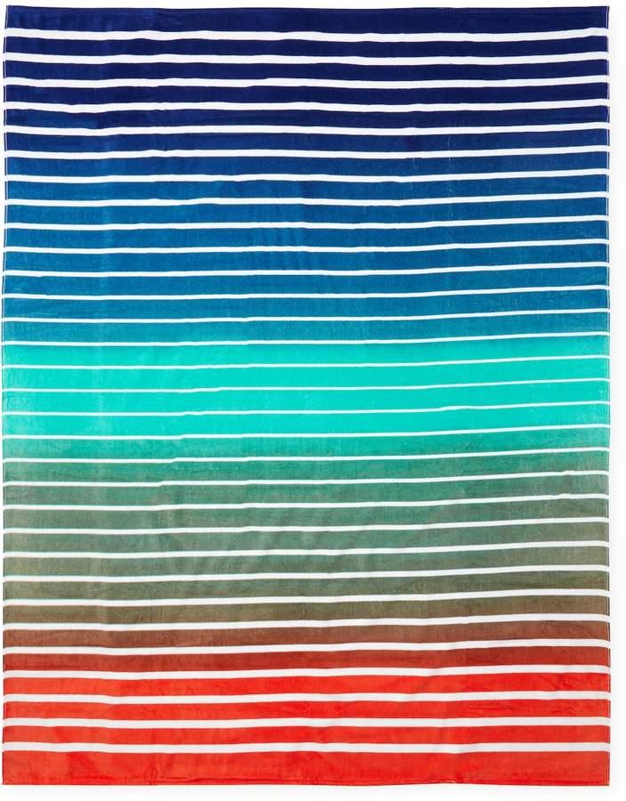 Dohler Pattern Stripes Terry Velour Oversized Beach Towel