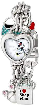 Disney Women's MN2010 Minnie Mouse Mother-of-Pearl Dial Charm Watch
