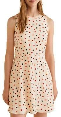 MANGO Sleeveless Flowy Printed Dress