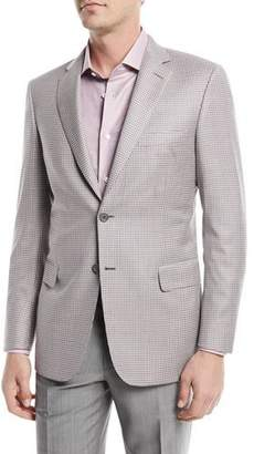 Brioni Checked Wool Two-Button Blazer