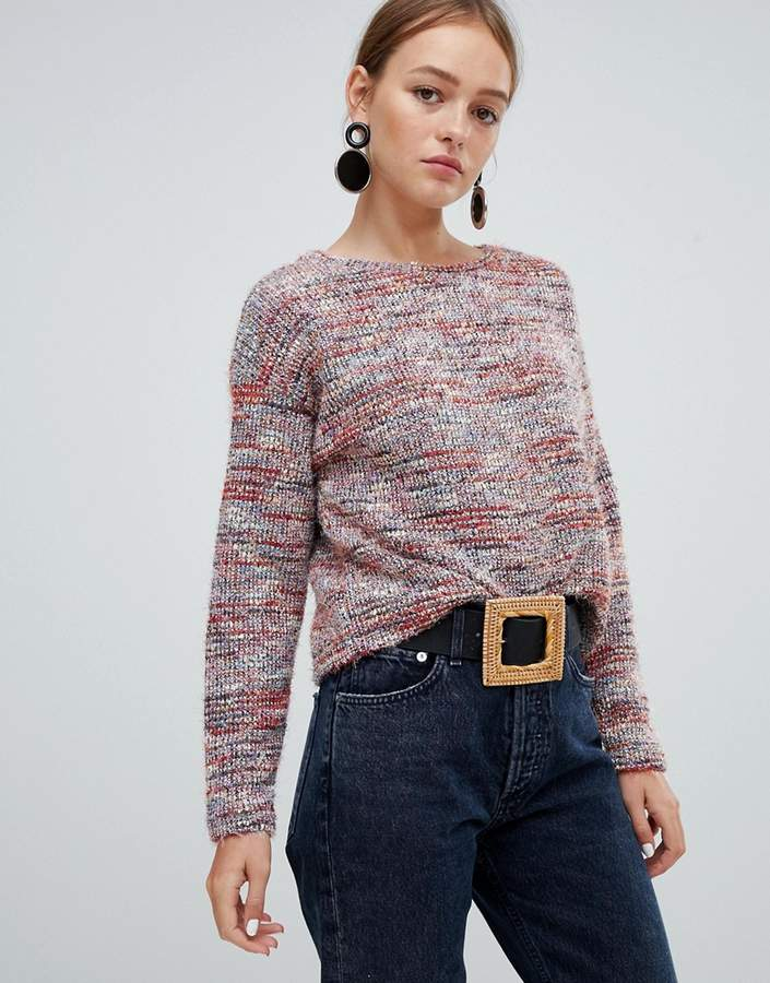 textured stripe jumper in multi