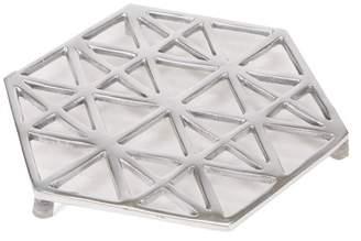 Mind Reader Trivet, Home Decor for Counter Top, Kitchen, Dining Room, Keeps Tabletops Safe, Silver