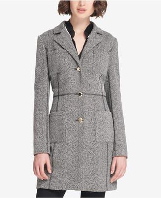 DKNY Four-Pocket Marled Knit Duster Jacket