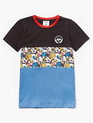 Hype Boys' Disney Mickey Mouse T-Shirt, Black/Blue