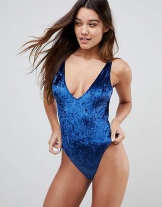 Asos DESIGN Storm Velvet bodysuit
