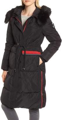 NVLT Down Faux Fur Trim Jacket