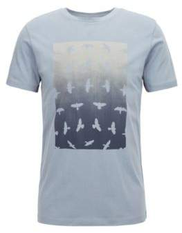 BOSS Hugo Crew-neck T-shirt water-based graphic print M Open Blue