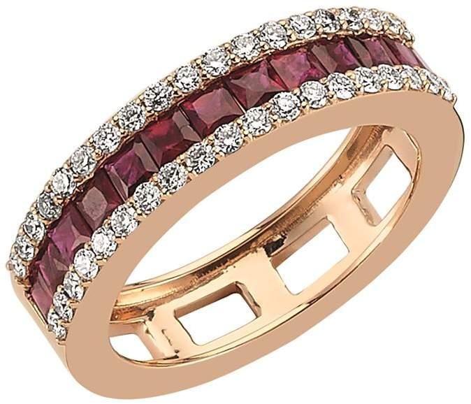 Bee Goddess Mondrian Ruby and Diamond Ring