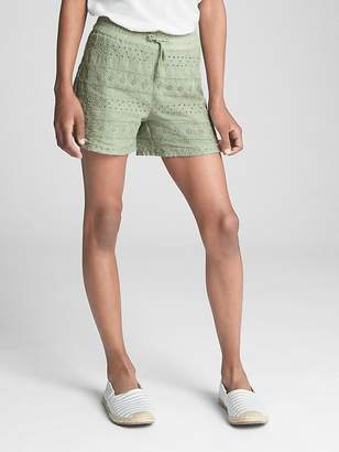 Gap Pull-On Eyelet Shorts