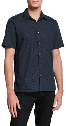 Theory Men's Irving High Dye Short-Sleeve Sport Shirt