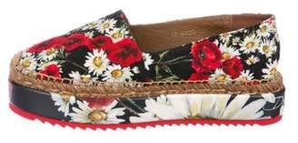 Dolce & Gabbana Floral Flatform Slip-On