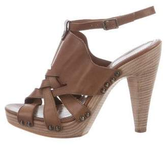 Derek Lam Leather Platform Sandals
