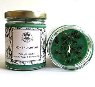 Money Drawing 6 oz Soy Spell Candle for Wealth