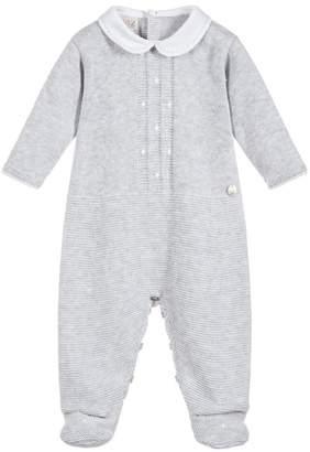 Paz Rodriguez Grey Knitted Sleepsuit.