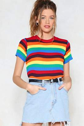 Nasty Gal With Flying Colors Knit Tee