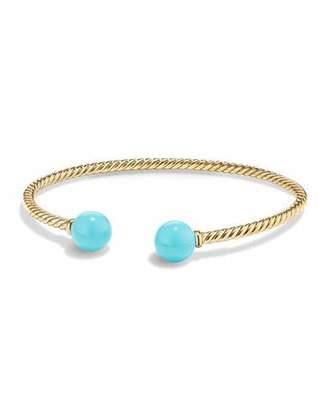David Yurman Solari 18K Gold & Turquoise Cuff Bracelet