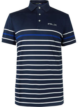 RLX Ralph Lauren Striped Tech-Piqué Polo Shirt