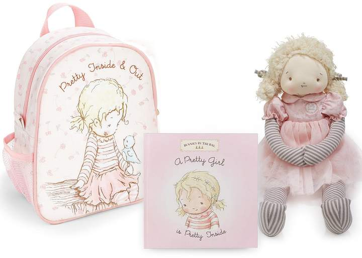 Bunnies By The Bay 14#double; Elsie Plush Doll, Pretty Girl Backpack, & Pretty Girl Board Book Set