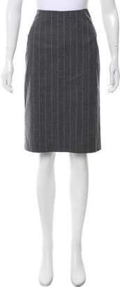 Theory Wool Pinstripe Skirt