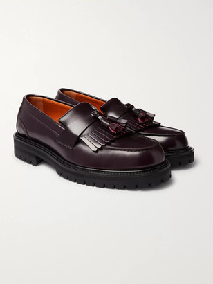 Mr P. - Jacques Fringed Leather Loafers - Men - Burgundy