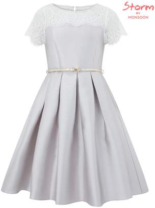 Monsoon Quinn Glitter Twill Dress
