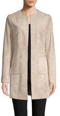 Embellished Faux Suede Jacket